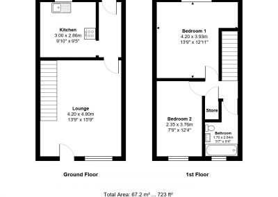 3a oakfield road tw15 1dn floor plan